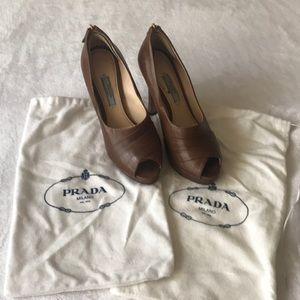Prada Milano leather heels